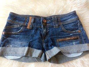 Dunkelblaue Jeans Shorts