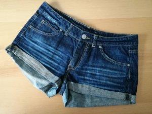 Dunkelblaue Jeans Shorts Hot Pants