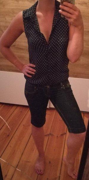 Dunkelblaue Jeans Shorts von Gang