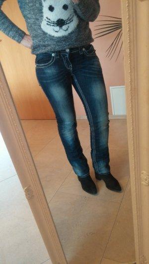 Blue Monkey Slim jeans donkerblauw Katoen