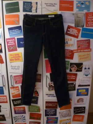 Dunkelblaue Jeans von H&M &Sqin, 28x32, Low Waist, Slim, Röhrenjeans, Denim, Basic