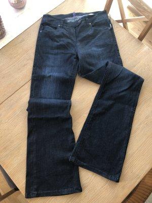 Laurèl Jeans a zampa d'elefante blu scuro