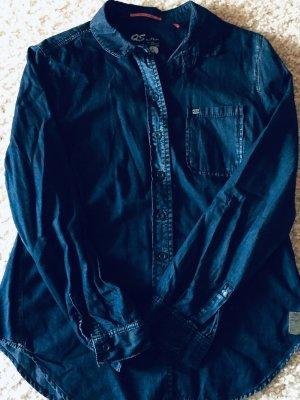 QS by s.Oliver Blouse en jean bleu foncé