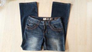 Boot Cut spijkerbroek donkerblauw-blauw