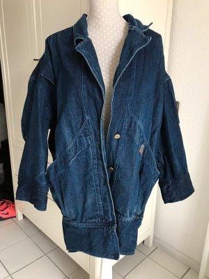 Dunkelblaue Jeansjacke Vintage Oversized