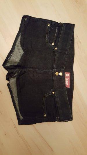 dunkelblaue Jeansshort