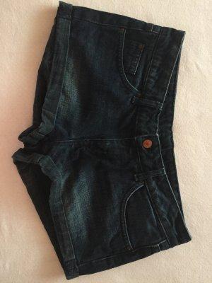 Dunkelblaue Jeansshorts