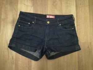 dunkelblaue Jeansshorts H&M