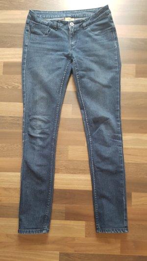 Pantalone cinque tasche blu scuro-blu