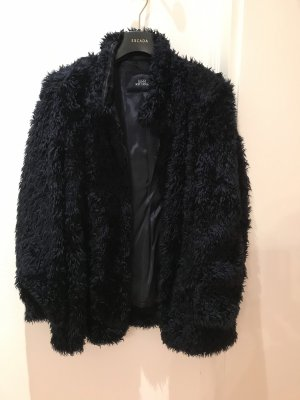 Berri Sport Couture Chaqueta de piel azul oscuro