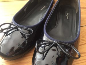 Paul Green Patent Leather Ballerinas blue-dark blue leather