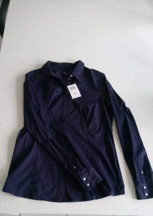 Dunkelblaue Langarm-Bluse von Mexx