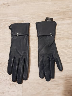 H&M Leather Gloves dark blue
