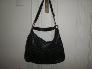 dunkelblaue Lederimitat Tasche von Deichmann