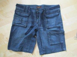 dunkelblaue Lee Jeans Bermuda