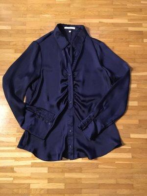 dunkelblaue, leicht transparente Bluse von Seidensticker