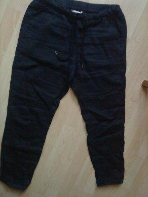 dunkelblaue Leinenhose Größe 38 HM