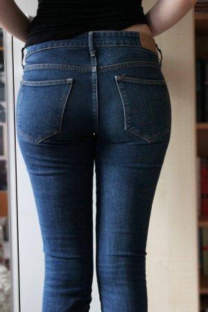 Dunkelblaue Low Waist Skinny Jeans 28/32 H&M