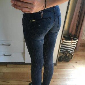 Dunkelblaue Mango Jeans in Größe 34