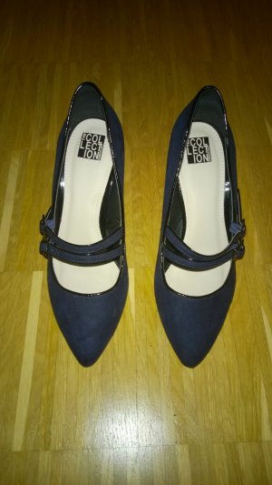 Debenhams Escarpins Mary Jane bleu faux cuir