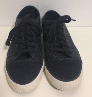 Dunkelblaue Neuwertige Tory Burch Sneaker