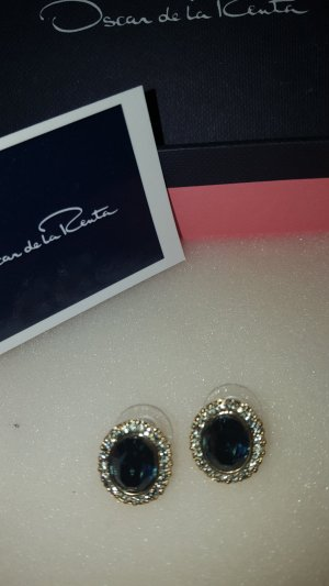 Oscar de la renta Ear stud blue-gold-colored metal