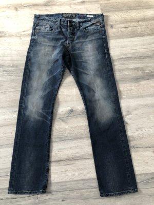 Replay Jeans boyfriend bleu-bleu foncé