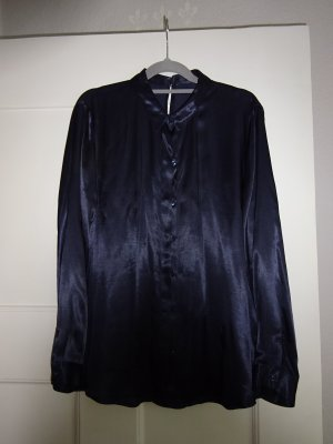 Zara Splendor Blouse dark blue viscose