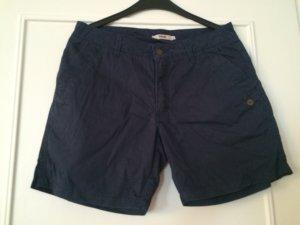 Short bleu foncé coton