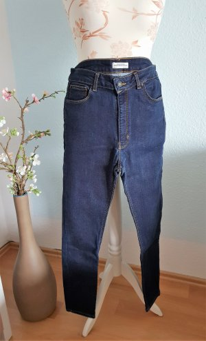 dunkelblaue skinny Jeans, highwaist Jeans von Zara