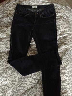 Dunkelblaue Skinny Jeans Röhrenjeans Five Pocket Gr. 26