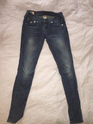 Dunkelblaue Skinny Jeans von True Religion Gr. 25