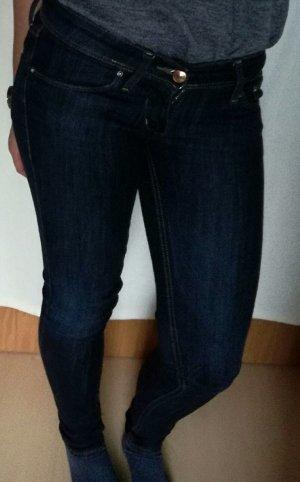 Dunkelblaue skinny low Jeans von H&M