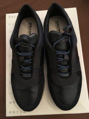 Geox Instapsneakers donkerblauw Gemengd weefsel