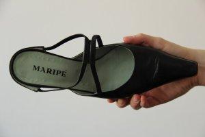 dunkelblaue spitze Echtleder-Sandalen von Maripé, Größe 39,5