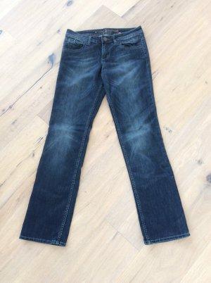 Dunkelblaue Straight Jeans - Größe 40 - Länge 34