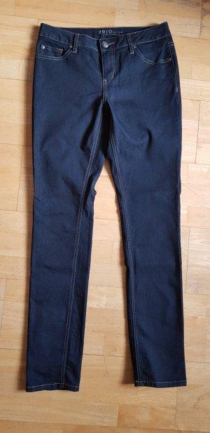 Dunkelblaue Stretch-Jeans von Zero