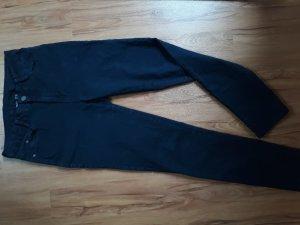 dunkelblaue Stretchhose