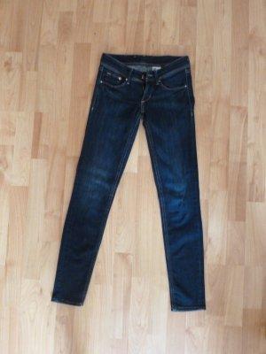 Dunkelblaue super skinny low-waist Jeans