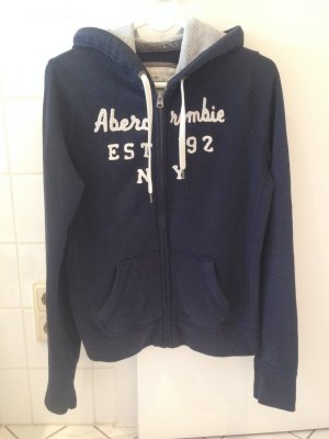 Abercrombie & Fitch Hoody dark blue-white