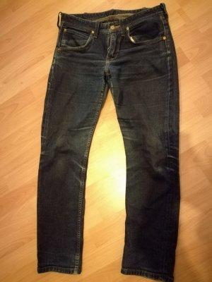 Dunkelblaue Vintage / Mom Jeans von Lee w28, l33