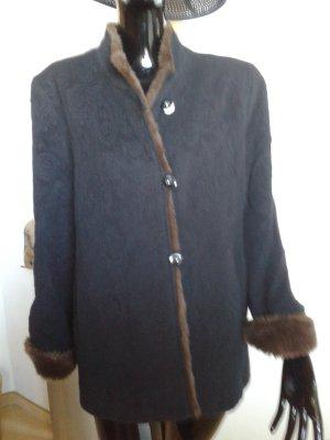 Dunkelblaue, warme und ganz leichte Wolljacke Gr.38-40