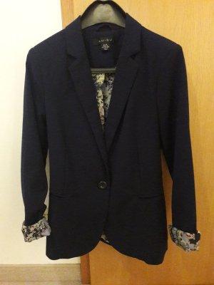 Amisu Jersey blazer donkerblauw Polyester