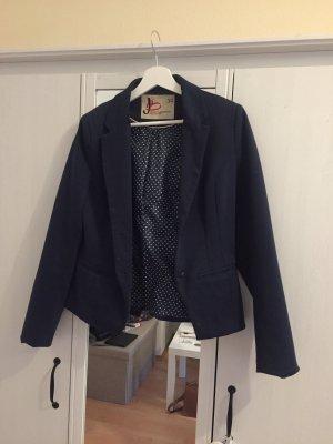 H&M Lange blazer donkerblauw-wit