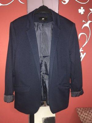 H&M Sweat Blazer dark blue