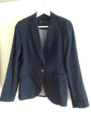 Zara Blazer de esmoquin azul oscuro