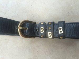 Bogner Cinturón de cuero azul oscuro Cuero