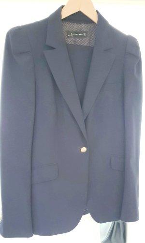 Zara Traje de negocios azul oscuro