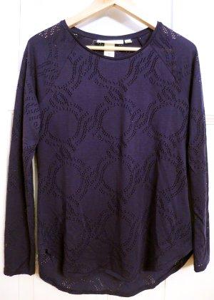 dunkelblauer dünner Pullover, kleine Löcher(siehe Bilder), Gr.36