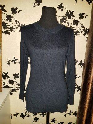 Dunkelblauer eleganter Pullover - blau / gold - Gr. L